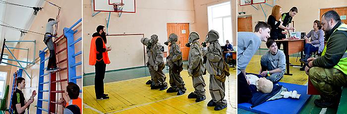 Районные соревнования «Школа безопасности»